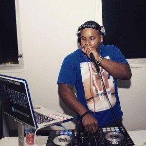 Photo Credit: Michael McFarlane DJ Temp playing at SGA's Back to school party at UVI Sports at Fitness Center, January 2015.